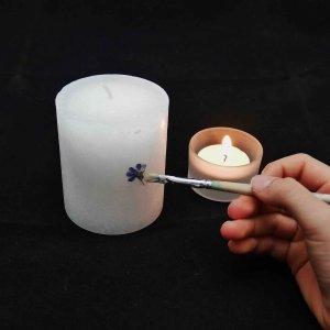 Kerzen mit echten Blüten