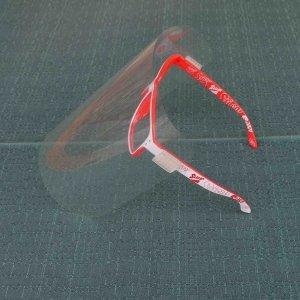 Gesichtsschutz-Visier mit Brille selbstgemacht