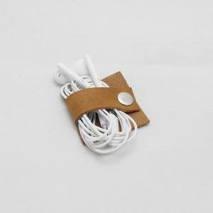 Kabelhalter aus Leder