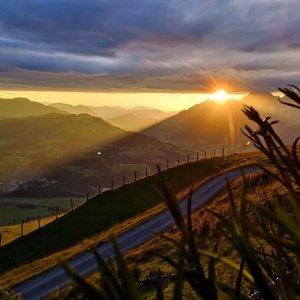 Sonnenuntergang auf der Stanglalm