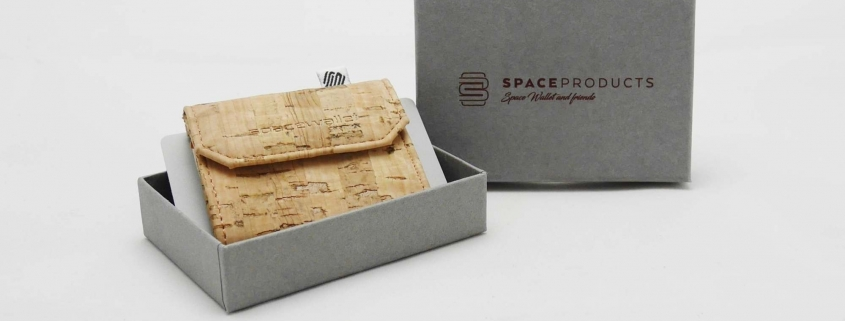 Space Wallet Kork - Mini Geldtasche