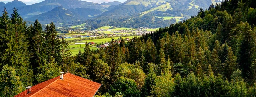 Blick nach St. Johann in Tirol