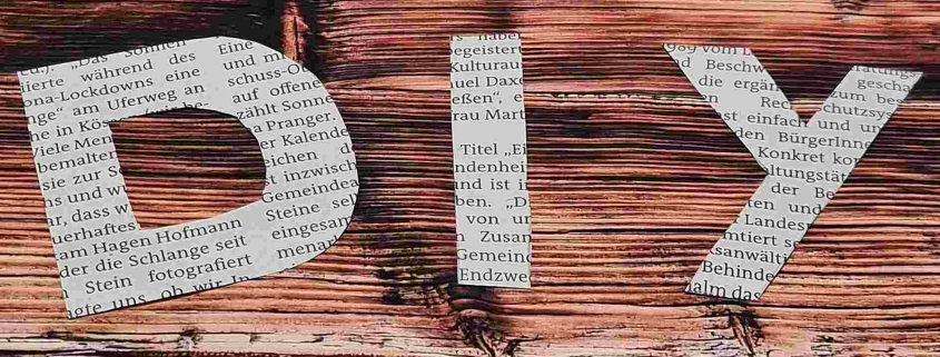 Basteln mit Zeitungspapier