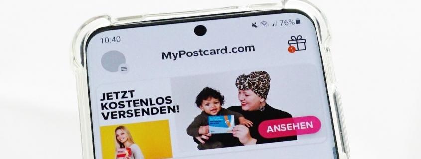 FürMichFürUns Aktion - MyPostcard App