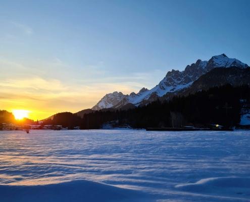 Sonnenuntergang am Wilden Kaiser