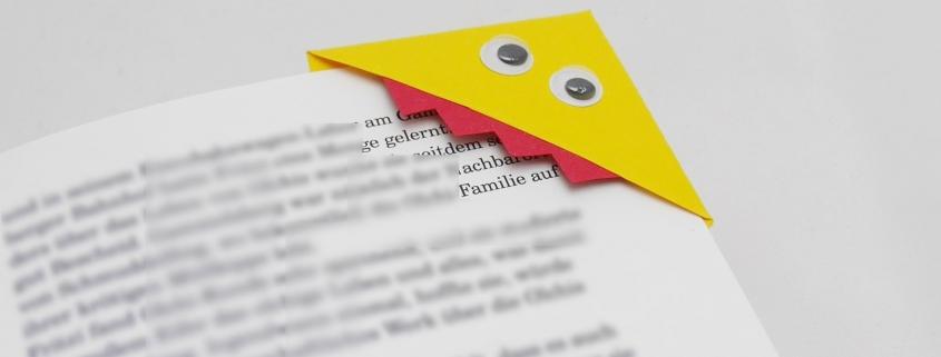 Monster Lesezeichen aus Papier