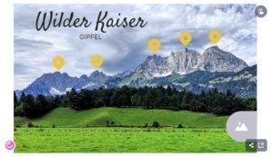 Wilder Kaiser Gipfel - interaktives Bild von genially