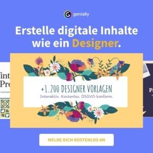 genially - digitale Inhalte und kostenlose Vorlagen